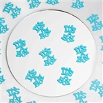 Metallic Foil Baby Shower Confetti-300 PCS-Blue
