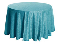 "Rental Crinkle Taffeta 120"" Round Tablecloth"