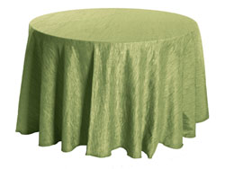 "Rental Crinkle Taffeta 132"" Round Tablecloth"
