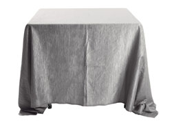 "Rental Crinkle Taffeta 90"" x 90"" Square Tablecloth"