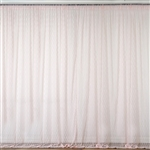 5ft x 10ft Fire Retardant Sheer Floral Lace Premium Curtain Panel Backdrops - Blush - Set Of 2