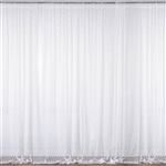 5ft x 10ft Fire Retardant Sheer Floral Lace Premium Curtain Panel Backdrops - White - Set Of 2