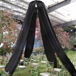 20ft Premium Black Fire Retardant Sheer Voile Curtain Ceiling Panel Backdrop