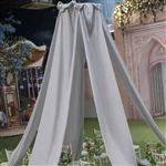20ft Premium Silver Fire Retardant Sheer Voile Curtain Ceiling Panel Backdrop