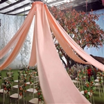 40ft Premium Blush Fire Retardant Sheer Voile Curtain Ceiling Panel Backdrop