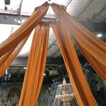 40ft Premium Gold Fire Retardant Sheer Voile Curtain Ceiling Panel Backdrop