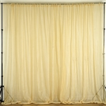 10ft x 10ft Fire Retardant Sheer Voil Premium Curtain Panel Backdrops - Champagne