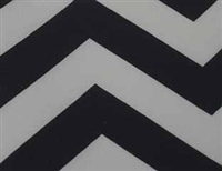 Chevron Fitted Tablecloth 8 FT Rectangular W/Pleated Corners