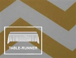 "Premium Chevron Table Runner 12""x108 (5+ pcs)"