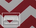 "Premium Chevron Table Runner 12""x120"""