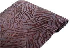 "Zebra Stripes fabric bolt 12"" x 10Yards - Chocolate / Chocolate"