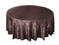"120"" Round Tablecloth Pintuck - Chocolate"