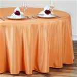 "Econoline Orange 120"" Round Tablecloth"