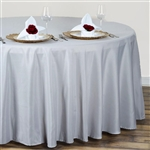 "Econoline Silver 120"" Round Tablecloth"