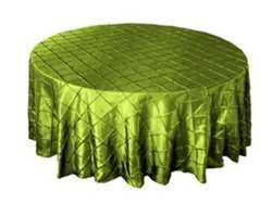"120"" Round Tablecloth Pintuck - Sage Green"