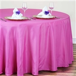 "Econoline Fushia 120"" Round Tablecloth"