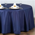 "Econoline Navy Blue 132"" Round Tablecloth"