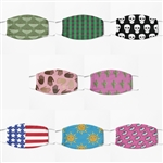Designer Reusable Spandex Masks Variety Pack Collection by Nikki D - 8 Pack - One Of Each Design