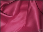 "108""X132"" Oval Matte Satin/Lamour Table Cloths - Cerise"
