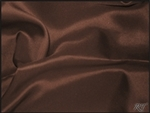 "108""X132"" Oval Matte Satin/Lamour Table Cloths - Espresso"