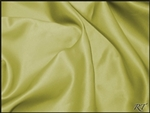 "108""X132"" Oval Matte Satin/Lamour Table Cloths - Acid Green"