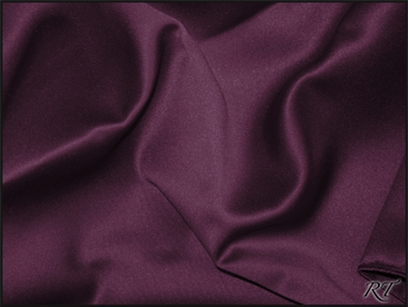 "108""X156"" Oval Matte Satin/Lamour Table Cloths - Aubergine"