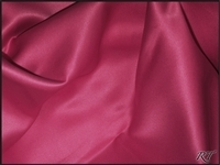 "108"" Round Matte Satin/Lamour Table Cloths - Cerise"