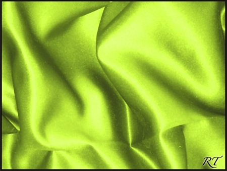 "120"" Round Matte Satin/Lamour Table Cloths - Apple Green"