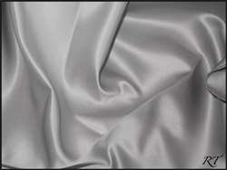 "108""X132"" Oval Matte Satin/Lamour Table Cloths - Silver"