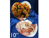 "10"" Lovely Heart Mirror - 6/Set"