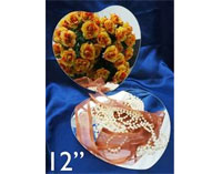 "12"" Lovely Heart Mirror - 4/Set"