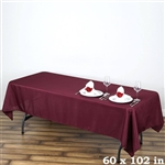 Econoline Burgundy Tablecloth 60x102""