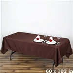 Econoline Chocolate Tablecloth 60x102""
