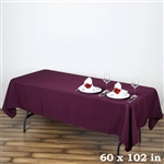 Econoline Eggplant Tablecloth 60x102""