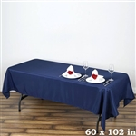 Econoline Navy Blue Tablecloth 60x102""