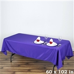 Econoline Purple Tablecloth 60x102""