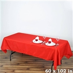 Econoline Red Tablecloth 60x102""
