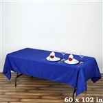 Econoline Royal Blue Tablecloth 60x102""