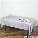 Econoline Silver Tablecloth 60x102""