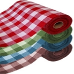 Checkered fabric by the yard 72""