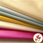Flame Retardant Matte Satin Lamour fabric by the yard