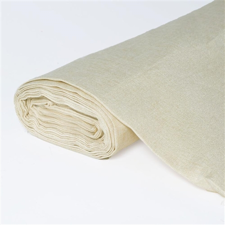 "10 Yards 54"" Natural Faux Burlap Fabric Bolt"