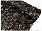 "Tulle Satin COUTURE Fabric Bolt - 54"" x 4Yard Black Gold"