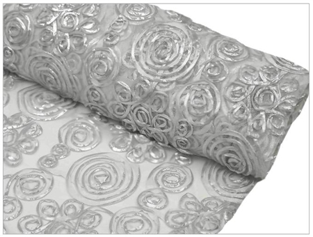 "Tulle Satin COUTURE Fabric Bolt - 54"" x 4Yard Silver"