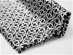 "Patterned Zen Art Satin Fabric Bolts - 54"" x 10Yard Black-White"