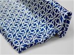 "Patterned Zen Art Satin Fabric Bolts - 54"" x 10Yard Royal Blue-White"