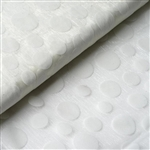 "54"" x 10 Yards Velvet Dots Sheer Organza Fabric Bolt - Ivory"