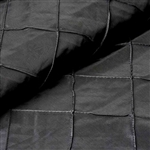 "54"" x 10"" Black Yards Pintuck Fabric Bolt Wedding Drape Panel Dress Stage Décor"