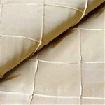 "54"" x 10"" Champagne Yards Pintuck Fabric Bolt Wedding Drape Panel Dress Stage Décor"