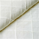 "54"" x 10"" Ivory Yards Pintuck Fabric Bolt Wedding Drape Panel Dress Stage Décor"